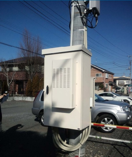 DC Cooled Outdoor Pole Cabinet For Telecom And Repeater Sites